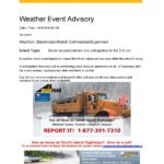 Weather Advisory from Mainroad South Island Contracting