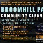 Broomhill Park Community Clean Up - Saturday, November 16, 2019
