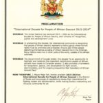 Proclamation: International Decade for People of African Descent