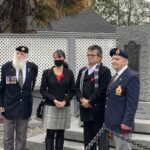 Mayor Tait receives first poppy to launch annual poppy fundraising campaign in Sooke