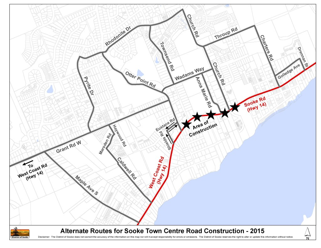Alternate Routes -Town Centre Road Construction 2015